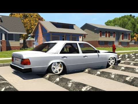 Beamng drive - Speeding on Residential area Speedbumps