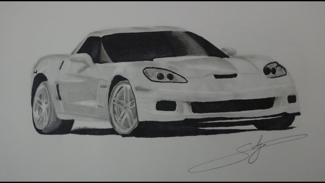 draw chevrolet corvette z06 youtube