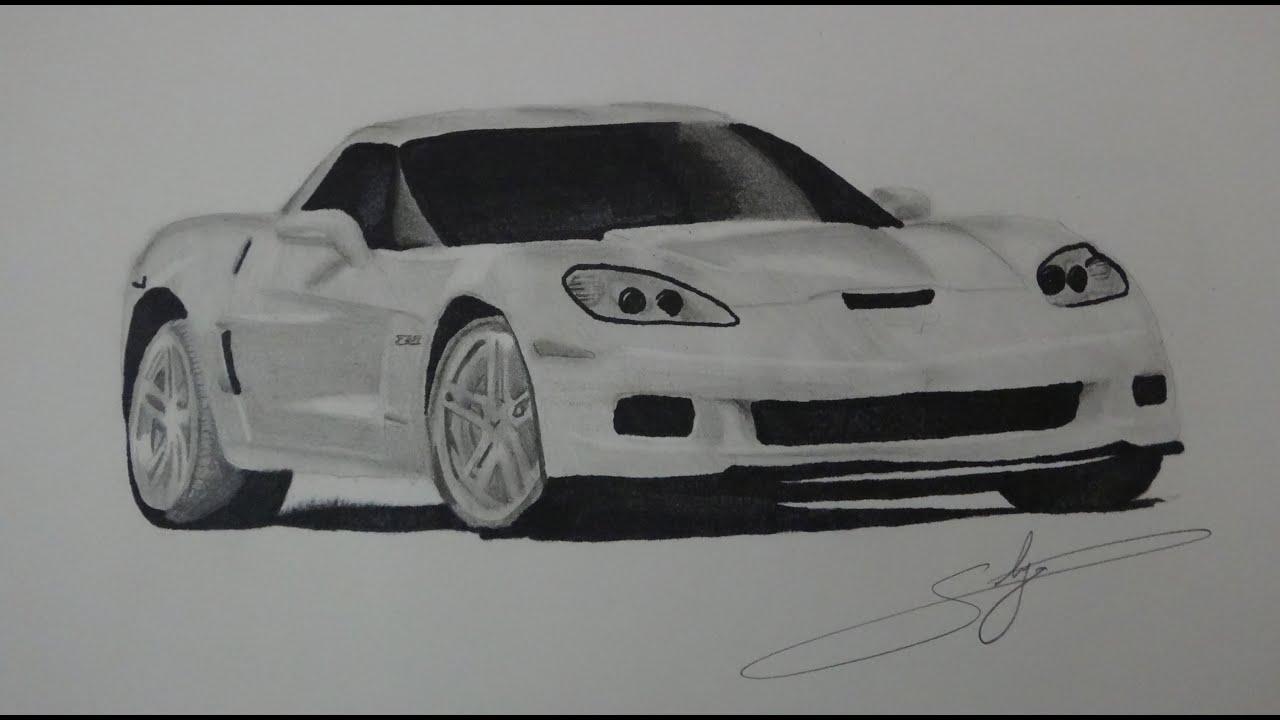 Draw Chevrolet Corvette Z06 - YouTube