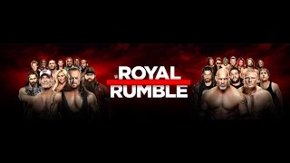 WWE Royal Rumble 2017 Match Card