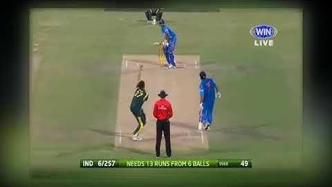 ind vs aus 6ball 13runs need thala dhoni on strike last over thirller