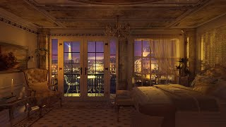 Cozy Rainy Night In Paris 🌙 Fall Asleep In The Most Romantic City In The World | Calming Rain Sounds