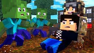 Почти попались в лапы зомби [ЧАСТЬ 4] Зомби апокалипсис в майнкрафт! - (Minecraft - Сериал)