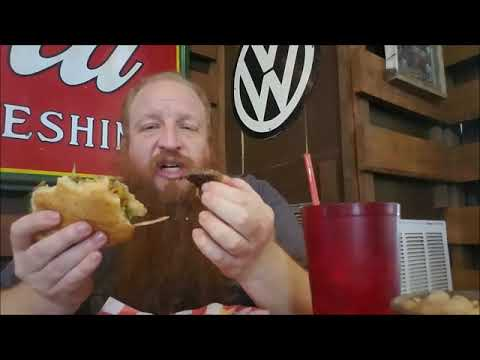 Big Red's Restaurant Invasion ep 20 - Puffabelly's Cheese Burger & Onion Rings - Review