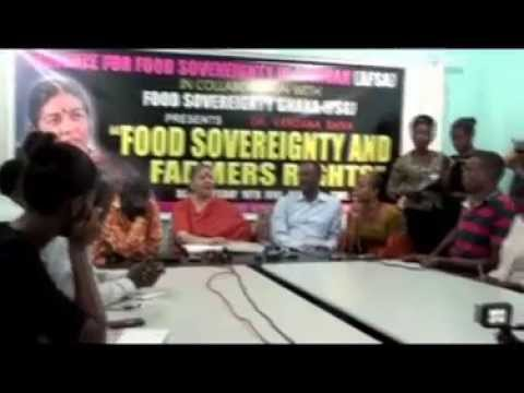 Press Conference:Food Sovereignty and Farmers' Rights,