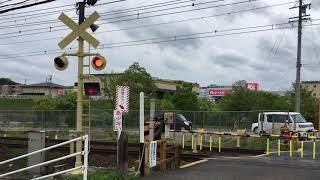 近鉄大阪線 名張 踏切変な塗装警報機
