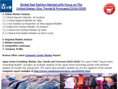Global Fast Fashion Market with Focus on The United States