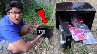 KID FINDS HIDDEN ABANDONED SAFE WITH HUGE SURPRISE INSIDE!!