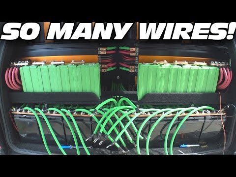HUGE BATTERY BANK: JY Power Lithium Install & Mixing 12v Series Parallel Wiring w/ AGM Car Batteries