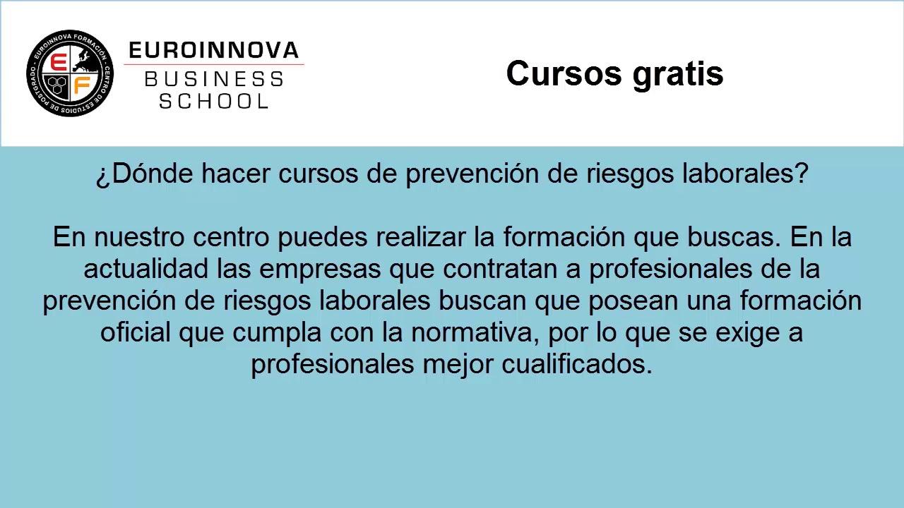 Cursos Online Gratis Web Oficial Euroinnova