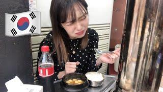 韓国で一人で肉モッパン。のつもりがおじさんと相席食堂 혼밥중에 아저씨랑 친해짐