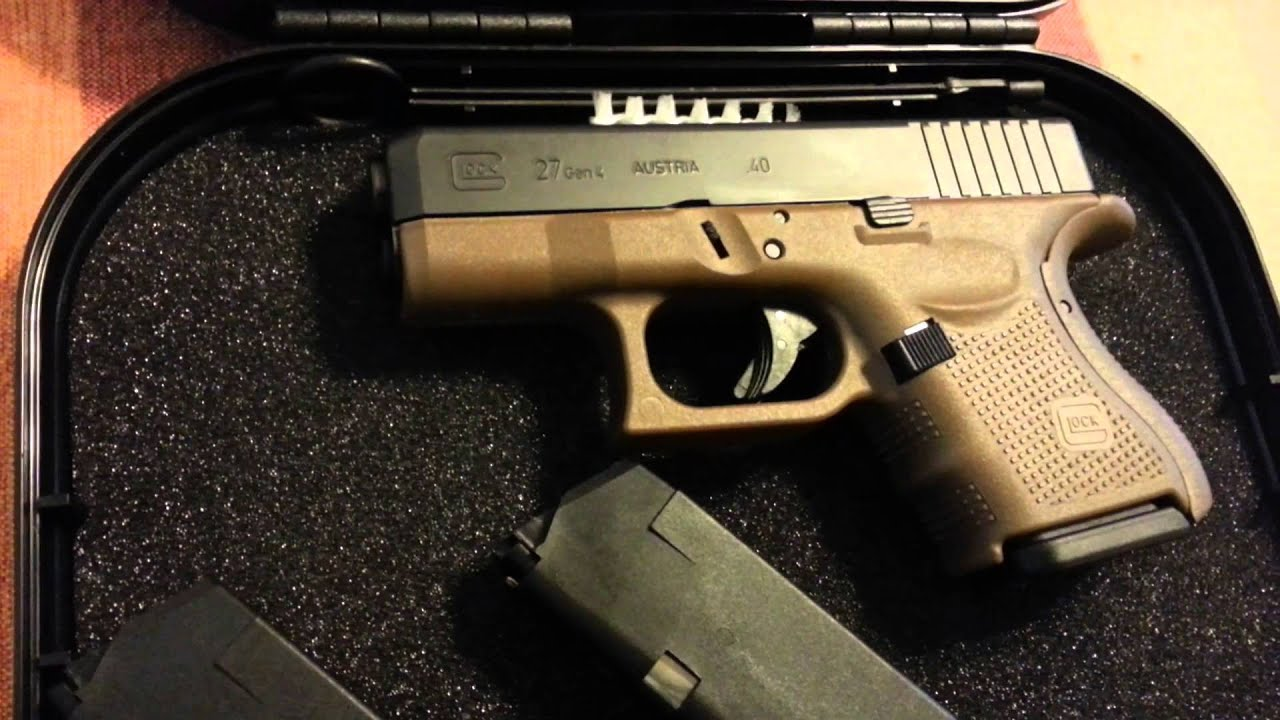 new purchase glock 27 gen4 in dark earth youtube
