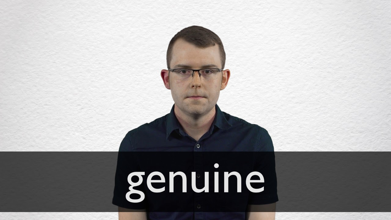 "Spanish Translation of ""genuine"" 