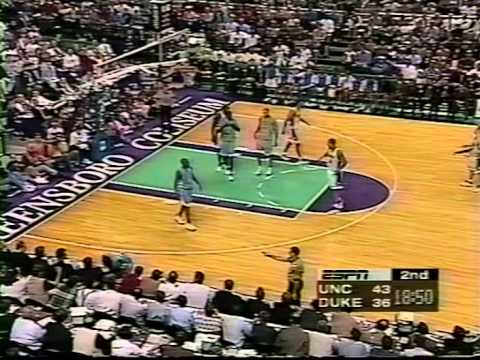 03/08/1998 ACC Final:  #4 North Carolina Tar Heels at #1 Duke Blue Devils