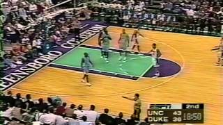 03/08/1998 ACC Final:  #4 North Carolina Tar Heels at #1 Duke Blue Devils
