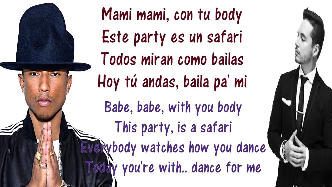 J Balvin Safari Lyrics English And Spanish Translation Meaning Ft Pharrel Williams Bia