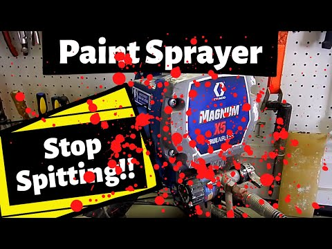 Graco Magnum X5: How To Stop Paint Sprayer Spits: [SG2 Spray Gun Fix] (2019)
