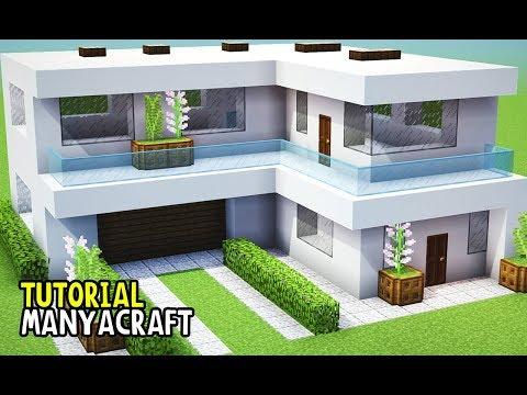 Minecraft Tutorial: CASA MODERNA | CONSTRUINDO EM MINECRAFT