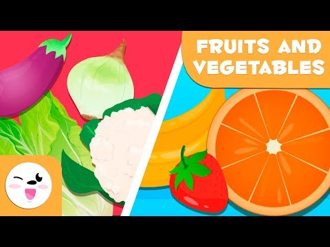 Learn Fruits And Vegetables Vocabulary For Kids