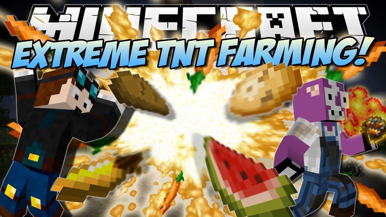 Minecraft   EXTREME TNT FARMING MOD! (Explosive Carrots, Potatoes & More!)   Mod Showcase