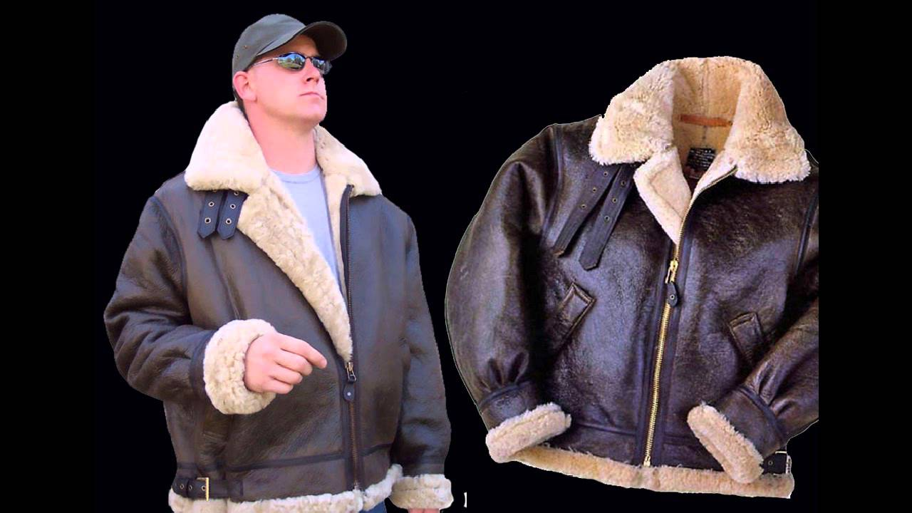 Men's B3 Sheepskin Bomber Jacket : American Mystique - YouTube