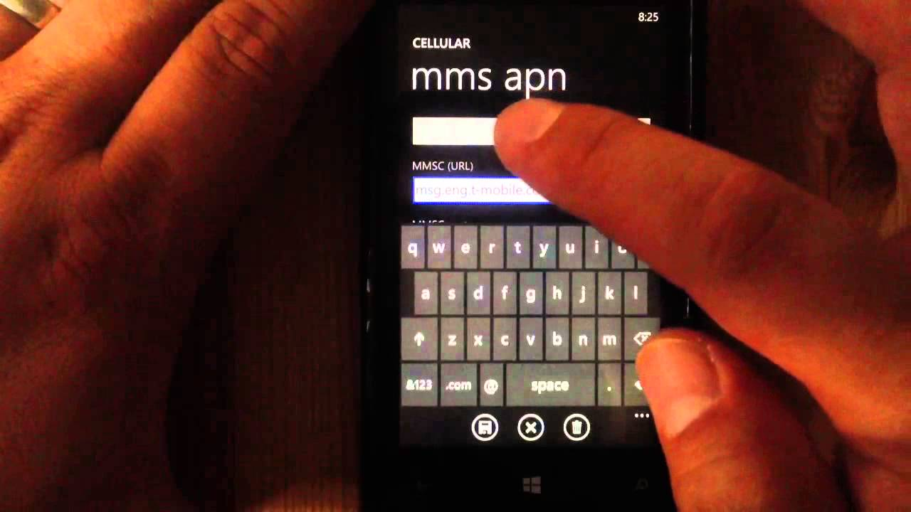 nokia windows phone 8 mms settings