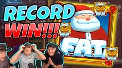 RECORD WIN! Fat Santa BIG WIN - MEGA WIN on Casino slot from CasinoDaddy