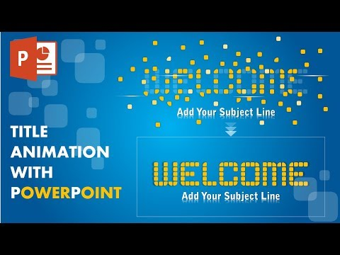 How to Create an Title Animation with blasting effect on PowerPoint