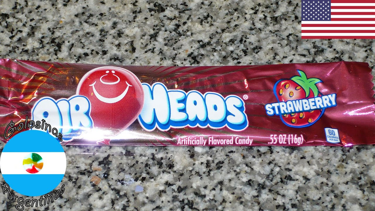 Caramelo masticable Air Heads Frutilla (EEUU) - Strawberry chewy candy (USA)
