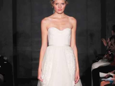 56d7ce5f50e4 Fall 2012 Wedding Dresses: Reem Acra - YouTube