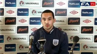 Theo Walcott England vs Denmark Press Conference