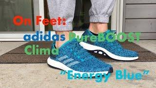 on feet adidas pureboost clima energy blue