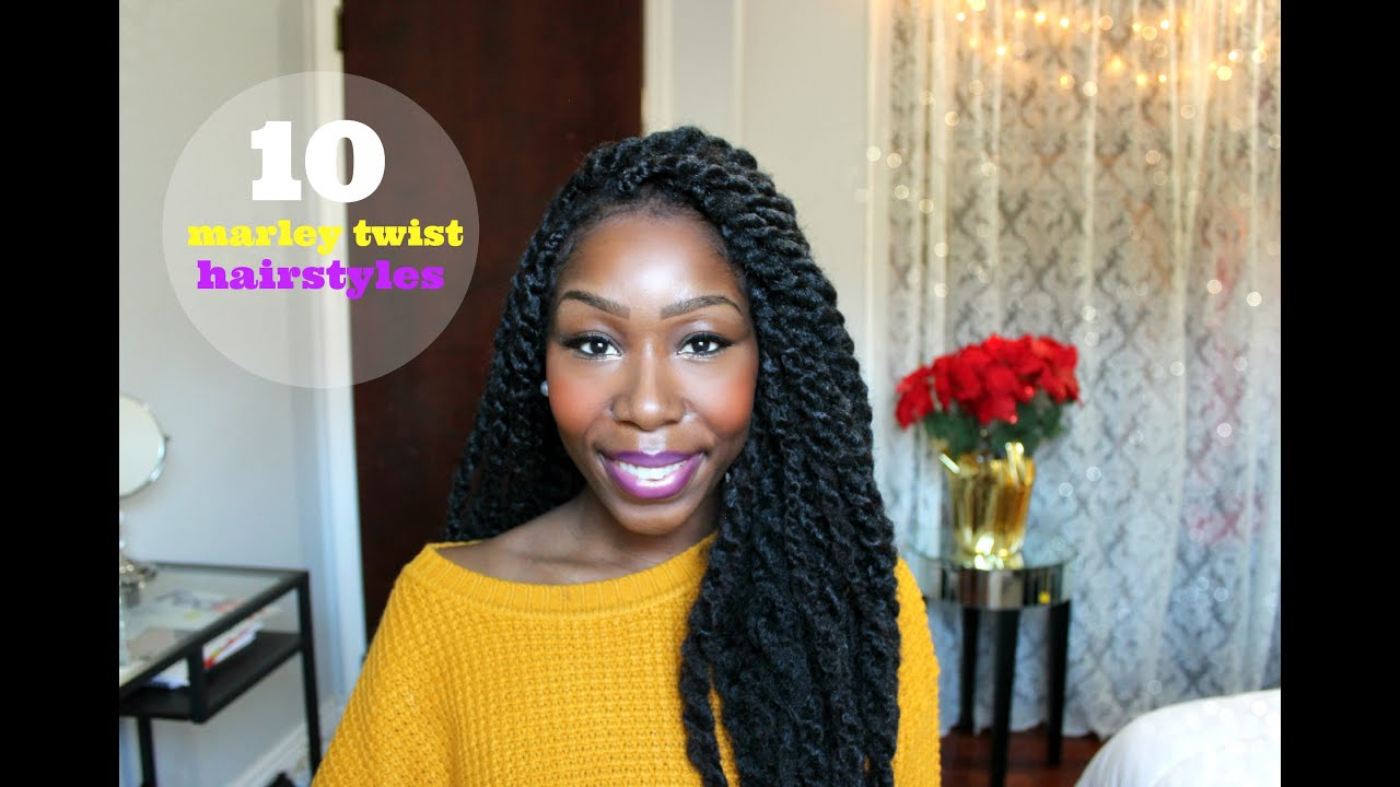 How To 10 Easy Marley Twist Hairstyles YouTube