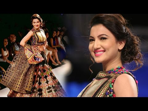 Gauhar Khan Walks The Ramp For Designer Shruti Sancheti