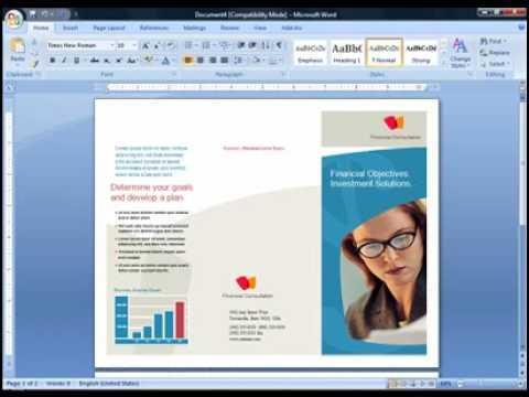 Cara Membuat Brosur Di Microsoft Word 2007 Flv Youtube