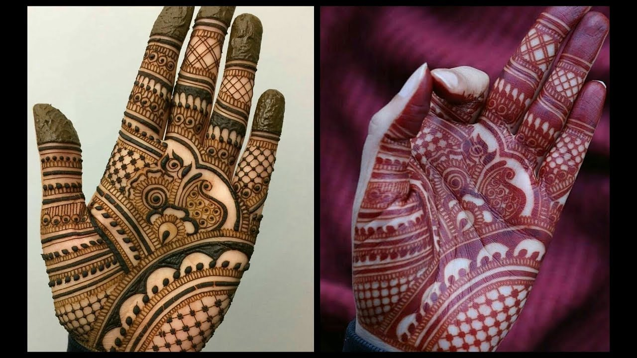 Front Palm mehndi designs
