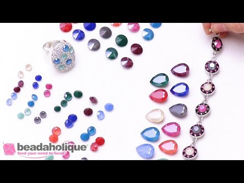Show and Tell: Swarovski Crystal Lacquer Chatons, Rivolis, and Fancy Stones