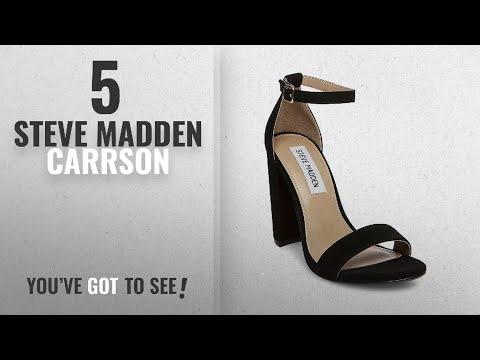 1423429de378 Top 5 Steve Madden Carrson [2018]: Steve Madden Women's Carrson Dress  Sandal, Black Suede, 8 M US - YouTube