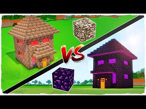 BEDROCK HOUSE VS OBSIDIAN HOUSE - MINECRAFT
