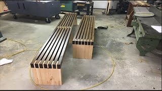 DIY How to make Benches out of 2x4 Base / Legs part one