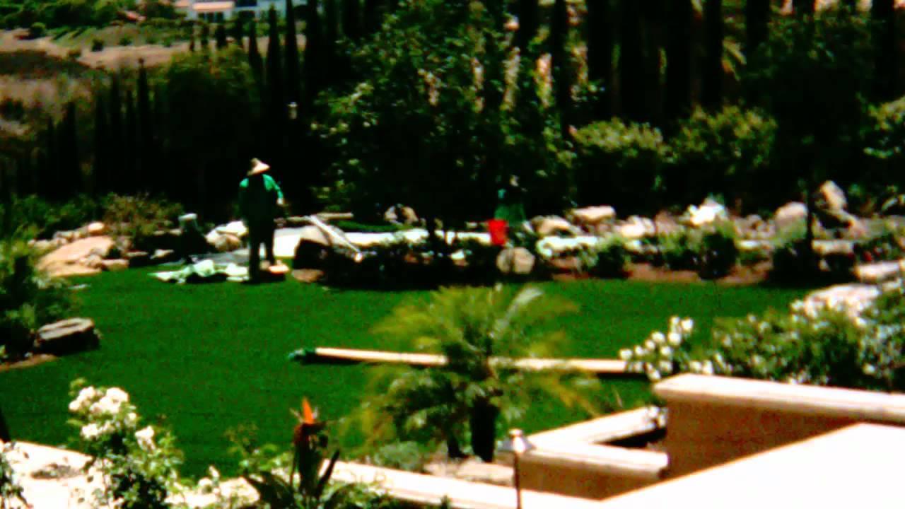 artificial grass installation dog grass backyard putting