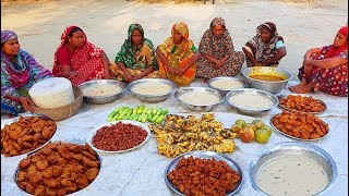 Wood Apple Juice With Traditional Iftar Food Arrangement For Women & Children Of Village
