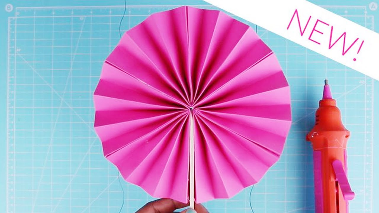 Paper Craft Ideas Handmade Paper Fan Using Origami Paper How To