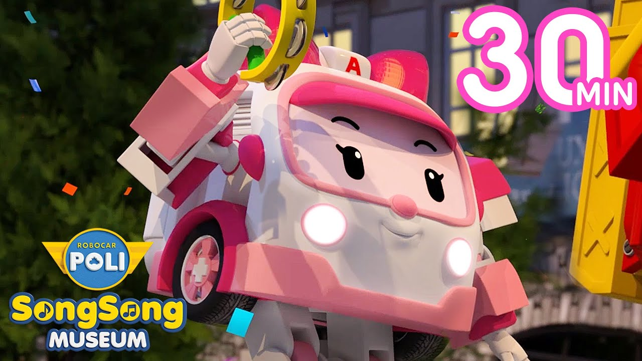 Birthday Party Songs for Kids | Happy Birthday to You &+ | SongSong Museum | Robocar POLI TV