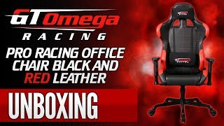 Gt Omega Racing Pro Gaming Office Chair - Black & Red Leather [unboxing + First Look]