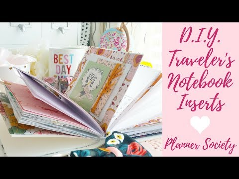 How To Make DIY Traveler's Notebook Inserts | Planner Society | Detailed Tutorial For Tn Inserts