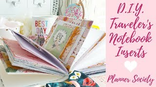 How to Make DIY Traveler's Notebook Inserts   Planner Society   Detailed Tutorial for Tn Inserts