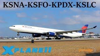 X-Plane 11 | BSS sound pack for FFa320!! | KSNA-KSFO-KPDX-KSLC | A319 A320 A330 | PilotEdge thumbnail