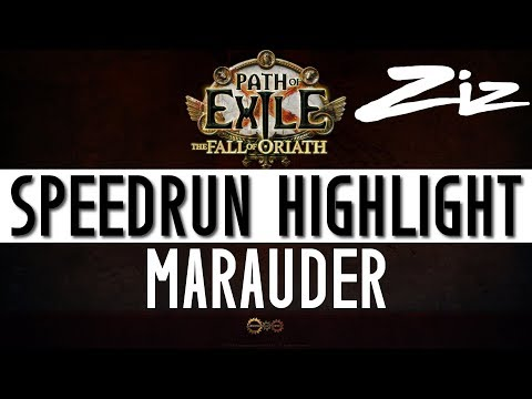 Path of Exile - From Act 1 to 10 In 3 hours | Marauder