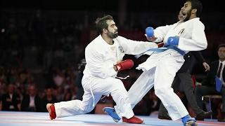 رفاييل اجاييف (الاذربيجاني) ضد عمر عبدالرحمن (المصري) . نهائي بطولة العالم للكراتيه 2016